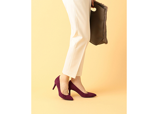 TOTAL MOTION 75mm POINTY TOE HEEL PLAIN PUMP 詳細画像 ベリー キッド スエード 14