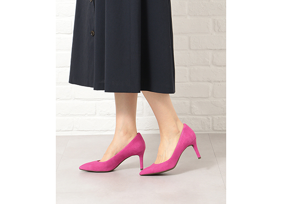 TOTAL MOTION 75mm POINTY TOE HEEL PLAIN PUMP 詳細画像 マゼンタ 15