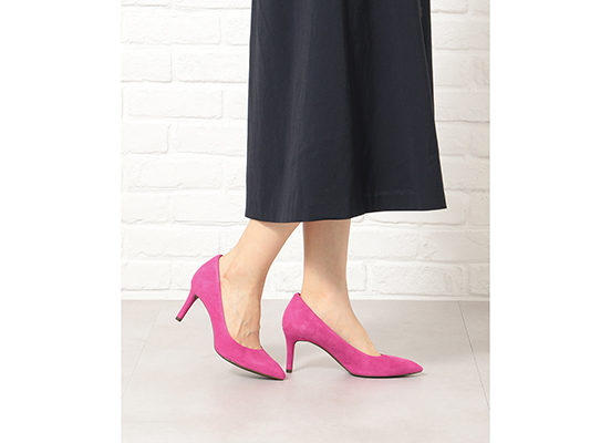 TOTAL MOTION 75mm POINTY TOE HEEL PLAIN PUMP 詳細画像 マゼンタ 16