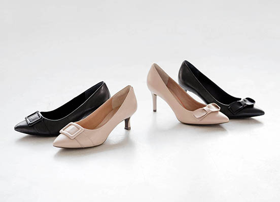 TOTAL MOTION 75mm POINTY TOE HEEL BOW 詳細画像 ニュートラルベージュ 6