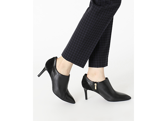TOTAL MOTION 75mm POINTY TOE HEEL SHOOTIE 詳細画像 ブラック 13