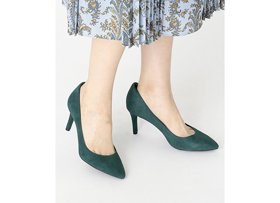 TOTAL MOTION 75mm POINTY TOE HEEL PLAIN PUMP 詳細画像 ディープティール 12