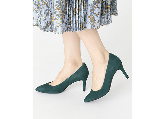 TOTAL MOTION 75mm POINTY TOE HEEL PLAIN PUMP 詳細画像 ディープティール 14