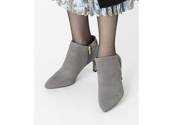 TOTAL MOTION LUXE VALERIE V BOOTIE 詳細画像 グレー ウール 11