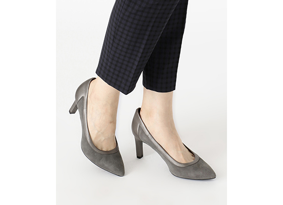 TOTAL MOTION VALERIE PIECED PUMP 詳細画像 グレー ウール 9
