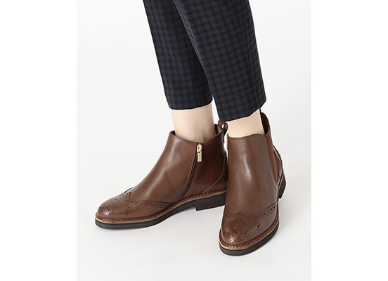 TOTAL MOTION ABELLE WING TIP BOOT 詳細画像 タン 12