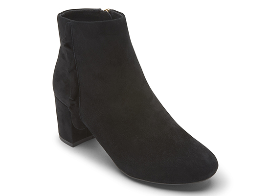 TOTAL MOTION OAKLEE RUFFLE BOOT 詳細画像 ブラック スエード 1