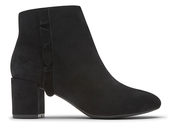TOTAL MOTION OAKLEE RUFFLE BOOT 詳細画像 ブラック スエード 5