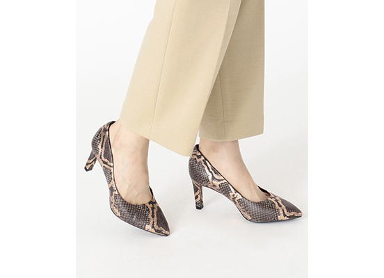 TOTAL MOTION LUXE VALERIE PUMP 詳細画像 グレー スネーク 12