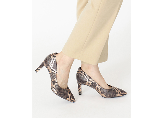 TOTAL MOTION LUXE VALERIE PUMP 詳細画像 グレー スネーク 13
