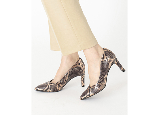 TOTAL MOTION LUXE VALERIE PUMP 詳細画像 グレー スネーク 14