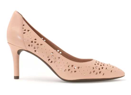 TOTAL MOTION 75mm POINTY TOE HEEL PERF STUD 詳細画像 ピンクベージュ 5